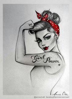 Pinup Representing Girl Power