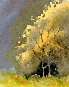 DavidBellamyArt: Capturing autumn colours in watercolour