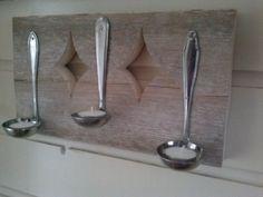 Wandkandelaar steigerhout met juslepels