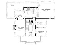House Plan - Cushing Meadows - main level - Stephen Fuller, Inc.