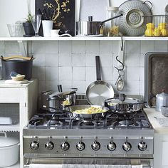 Artful vignette in an eclectic kitchen