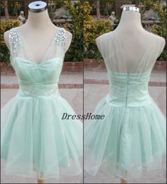 Blue Bridesmaid Dress  Short Blue Bridesmaid Dresse / by DressHome, $139.99 I would have this much longer but it's cute!
