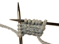 An I-cord Cast On creates an I-cord edging and casts on stitches at the same time.