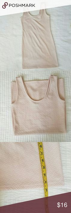 Blush Pink Body Con Dress NWOT. Small. Measurements shown in photos. Has a lot of stretch so would fit a size 0 - 4 (xs/small) best.  1st photo is for style reference. Dresses Mini