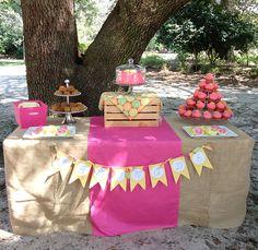 Pink lemonade party: Ellison is 6!
