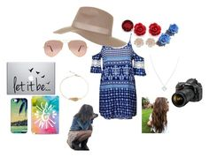 """Krisse"" by last-star-in-the-skies ❤ liked on Polyvore featuring Kevin Jewelers, Tarina Tarantino, River Island, Wolf & Moon, Topshop, Ray-Ban, Nikon and Casetify"