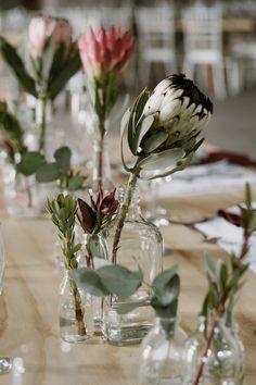 Moody Protea-filled Forest Wedding at De la Mas by Chris de Wet SouthBound Bride Protea Wedding, Floral Wedding, Wedding Flowers, Boquette Wedding, Rustic Wedding, Wedding Rings, Wedding Ideas, Protea Centerpiece, Floral Centerpieces