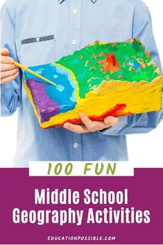 100 Hands-on Geography Activities for Middle School Hands On Geography, Middle School Geography, World Geography, Geography Lesson Plans, Geography Activities, Teaching Geography, Summer Activities, Kids Educational Crafts, Science Crafts