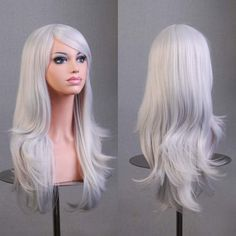 Cheap wig women, Buy Quality wig hanger directly from China wigs for gray hair Suppliers: Hot Hatsune Miku Anime Wig Synthetic Hair Long Curly Wave peluca Cosplay Wig Gray Nicki minaj wig Perruque peruca femininas Anime Wigs, Anime Hair, Hatsune Miku, Party Hairstyles, Wig Hairstyles, Nicki Minaj Wig, Big Wavy Hair, Full Hair, Red Hair
