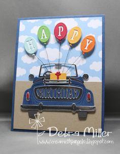 Happy Birthday Cards Handmade, Masculine Birthday Cards, Birthday Cards For Men, Card Birthday, Card Making Inspiration, Making Ideas, Card Boards, Birthday Card Drawing, Car Card