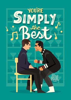 """I can no longer listen to ""Simply the Best"" without crying thanks a lot Music Lyrics Art, Art Music, Design Comics, Best Canvas, Schitts Creek, Halloween Signs, Canvas Artwork, Best Shows Ever, Favorite Tv Shows"