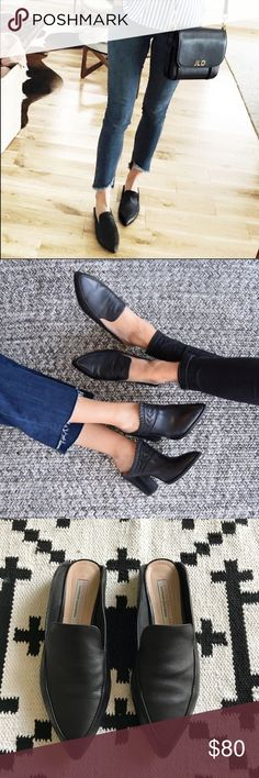Kristin Cavallari for Chinese Laundry Capri Mules •A pointed toe elevates the vintage sophistication of a flat mule with a loafer-inspired topline.  •Size 7.5, true to size.  •Excellent used condition.  •No trades, no holds. Chinese Laundry Shoes Mules & Clogs