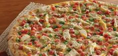 Gourmet Chicken Garlic Made fresh before your eyes with the finest ingredients and topped with our creamy garlic sauce. Available in medium, large and family size. Gourmet Chicken, Chicken Pizza, Garlic Chicken, Pizza Restaurant, Restaurant Recipes, Creamy Garlic Sauce, Hawaiian Pizza, Copycat Recipes, Cookie Dough