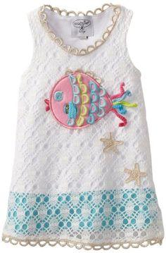 Amazon.com: Mud Pie Baby-Girls Newborn Crochet Fish Cover Up: Clothing