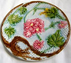 ANTIQUE FRENCH MAJOLICA PLATE FROM SALINS RARE 1870 (No2)