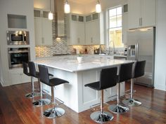 Custom kitchen by Wooden Specialties.