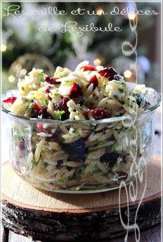- The Miles & A Delights of ~ lexibule ~: ~ Orzo Salad, Feta and Cranberries ~ Polenta, Gnocchi, Quinoa, Risotto, Orzo Salad, Cooking Recipes, Healthy Recipes, My Best Recipe, Feta