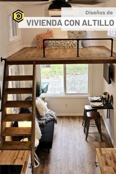 Tiny House Loft, Tiny House Living, Tiny House Plans, Tiny House On Wheels, Tiny House Design, Tiny Loft, Room Design Bedroom, Home Room Design, Home Interior Design
