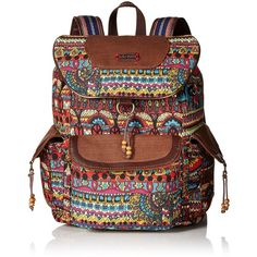 Sakroots Artist Circle Flap Fashion Backpack ( 44) ❤ liked on Polyvore  featuring bags f0645a0dc32cf