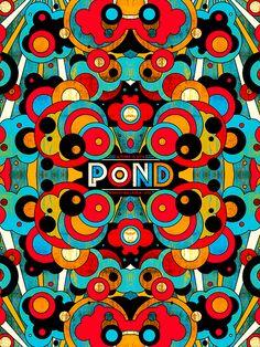 Pond. Poster design: Nate Duval (2014).