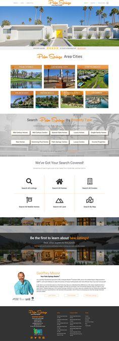 Custom Real Estate Web Design Exclusive Homes, Web Design Inspiration, Palm Springs, Custom Design, Real Estate, Real Estates