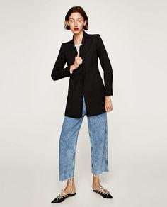 ZARA - WOMAN - INVERTED LAPEL FROCK COAT XL