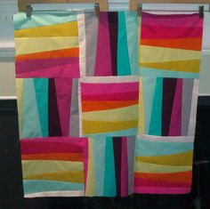 modern stripe blocks quilt in progress