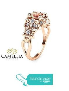 Unique Moissanite Floral Engagement Ring Nature Inspired White Gold Ring from Camellia-Jewelry… Unusual Jewelry, Unique Rings, Floral Engagement Ring, Engagement Rings, Wedding Ring Sets Unique, Sunflower Ring, Camilla, Art Nouveau, Fantasy Jewelry