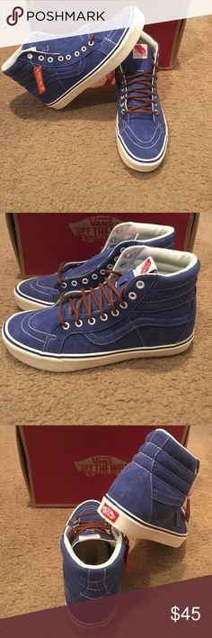 48f6adca08d Vintage SK8HI Lite Vans New in box. Light weight. True blue Vans Shoes  Sneakers
