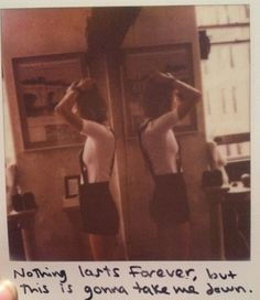 Taylor Swift Polaroid 55 - Wildest Dreams #1989 nothing lasts forever, but this is gonna take me down.