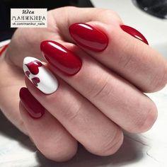 Disegni In Gel Per Unghie, Unghie Per San Valentino, Nail Art Rossa, Unghie