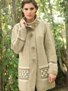 sacos tejidos a dos agujas - Buscar con Google Knit Crochet, Knitting Patterns, Pullover, Sweaters, Cardigans, Jackets, Google, Fashion, Girls Coats