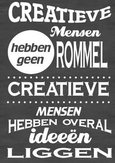 Creative people don't have junk, creative people just have a lot of ideas laying… Favorite Quotes, Best Quotes, Funny Quotes, The Words, Cool Words, Bujo, Dutch Words, Words Quotes, Sayings
