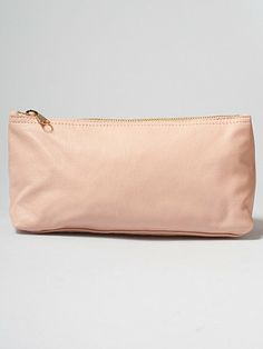 Leather Make-Up Pouch | American Apparel