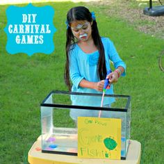 Learn how to create your own backyard carnival games.  Inexpensive fun for any party or gathering.