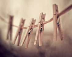 clothespins photograph / clothes pin rustic earth by shannonpix on Etsy.