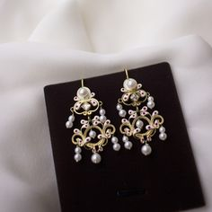 Croatian traditional earrings with pearls are from Dubrovnik area Diamond Earrings, Pearl Earrings, Traditional Earrings, Dubrovnik, Silver Necklaces, 925 Silver, Jewerly, Pearls, Bracelets
