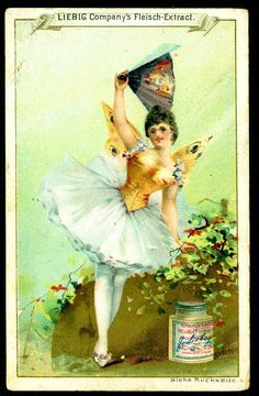 "Liebig Beef Extract ""Ballerina's"" German issue 1890"