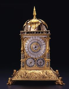 A tower clock made for the Danish King Frederick II by  the Nuremberg watchmaker Hans Gruber in the 16th century.