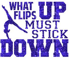 What Flips Up Gymnastics Iron On Decal by GirlsLoveGlitter on Etsy