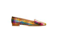 Rialto slippers in Tinsel Silk from Stuart Weitzman
