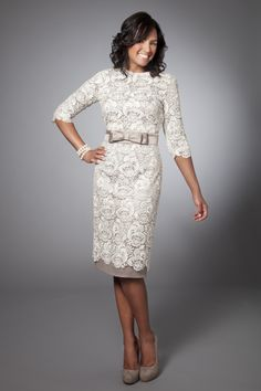 3/4 length sleeve lace dress