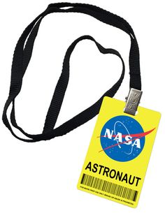 Nasa Astronaut Novelty ID Badge Prop Costume by dgpretail on Etsy