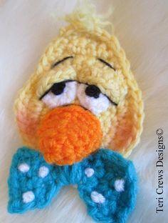 Duck Applique Crochet Pattern pattern on Craftsy.com