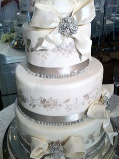Sparkles, frosting, cake. What's not to love? #Weddings #Cake