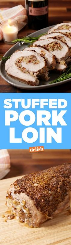 Stuffed Pork Loin Stuffed Pork Loin How to wow holiday dinner guests? Stuffing a pork loin with more bacon. Easter Dinner Recipes, Holiday Recipes, Christmas Recipes, Christmas Dinners, Christmas Lunch, Christmas Appetizers, Holiday Meals, Holiday Dinner, Pork Roast Recipes
