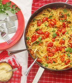 Summer Garden Tomato Sauce  Pasta