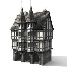 3d medieval townbuilding model - merchants guild... by Medievalworlds