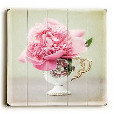 Pretty In Pink by Artist Eva Ricci Wood Sign