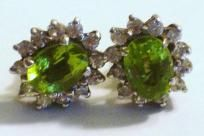 Free shipping and Handling on this Listing!  These lovely post back earrings feature lovely faceted peridotssurrounded by cz crystals.  Orders are shipped promptly within 1-3 days of purchase.  Ask me about bundling! I offer a special discount for...